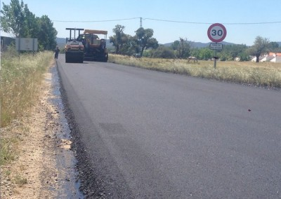Bacheo camino general de Moraleja a Cilleros